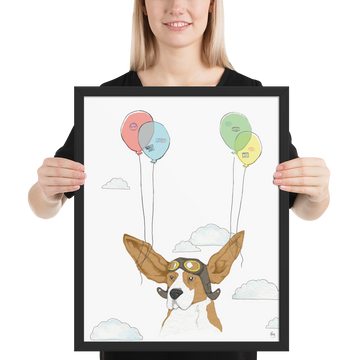 Flying Dog - Framed poster