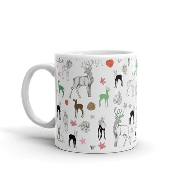 Ceramic Mug - Forest Animals (Green)