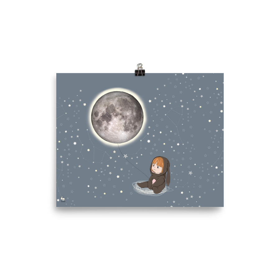 Baby Penny Capturing the Moon - Matte Poster