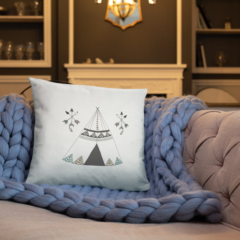 Throw Pillow - Teepee