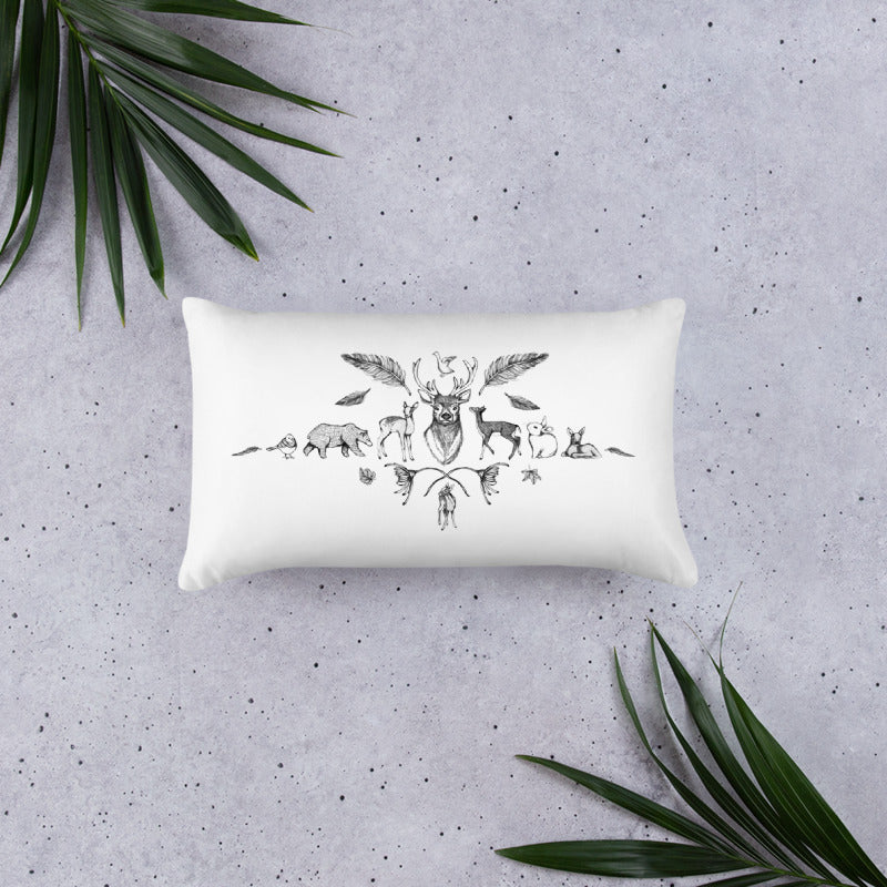 Throw Pillow - Forest Animals