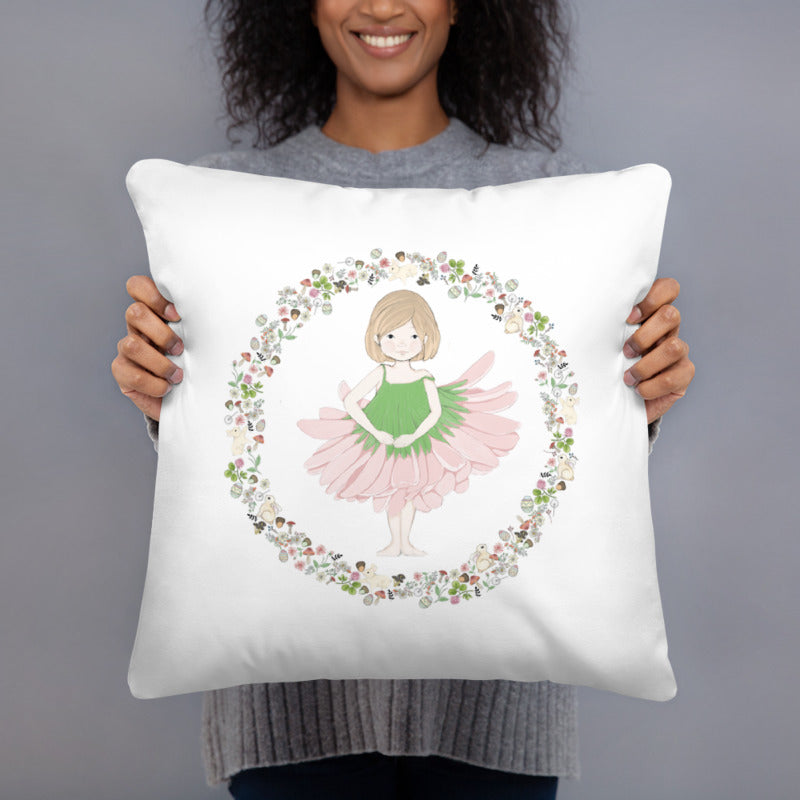 Throw Pillow - Penny in her Easter Ballet Dress
