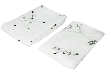 Bamboo Swaddle Blanket (B&W) - 2 Pack
