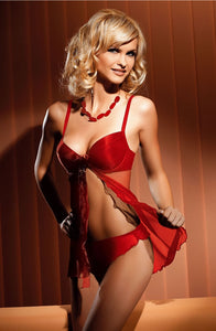 Red Tulle Babydoll
