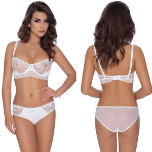 Fi Lace Soft Cup Bra In White