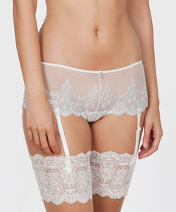 Silver Embroidered Boyshorts