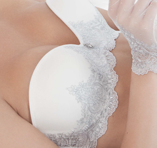 Load image into Gallery viewer, Silver Embroidered Bridal Bra
