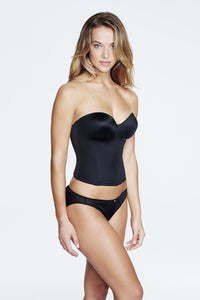 Bustier With Hidden Boning Black