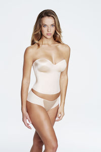 Bustier With Hidden Boning in Light Nude