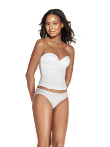 Bustier With Hidden Boning in White