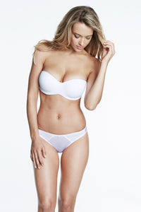 Strapless Smooth Bra with Hidden Boning in White