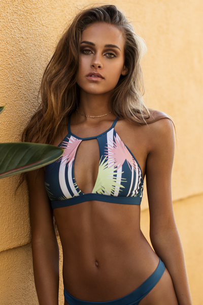 Palm High-Neck Bikini