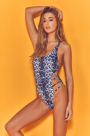 Snow Leopard Print Swimsuit