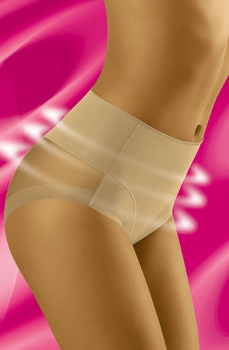 Mesh Reinforced Shapewear Briefs in  Light Nude