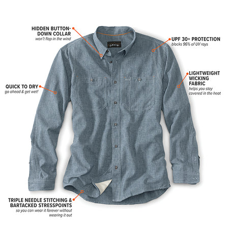 Tech Chambray Work Shirt  L/S