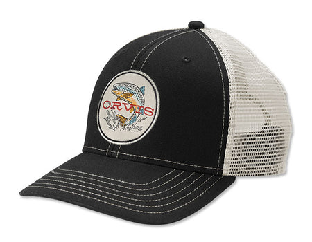 Early Rise Trout Trucker Cap - Black/White