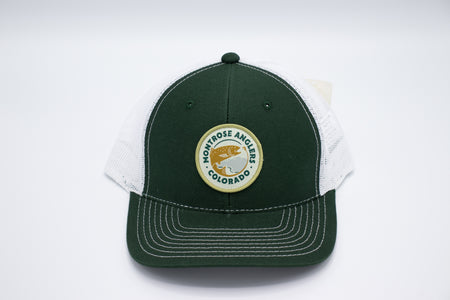 Montrose Anglers Zone Trucker Athletic Hunter/White Woven Patch