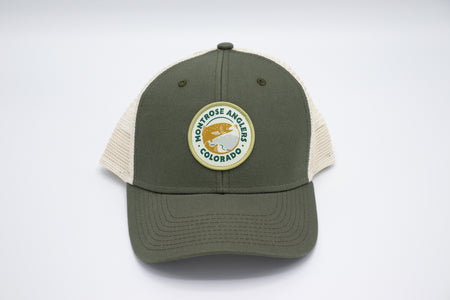 Montrose Anglers Cap Soft Mesh Sideline Loden/Natural Woven Patch