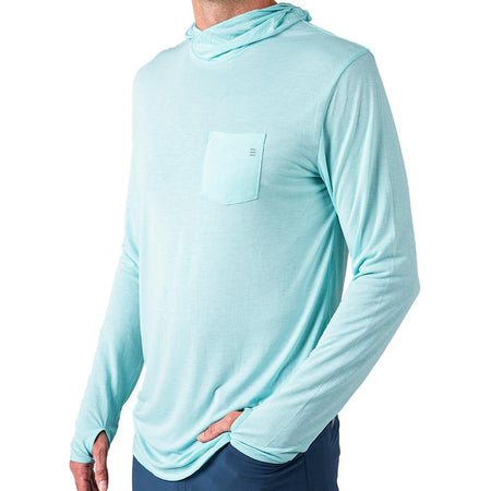 Men's Bamboo Lightweight Hoody Blue Chill