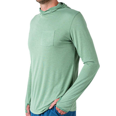 Men's Bamboo Lightweight Hoody Spartina Green