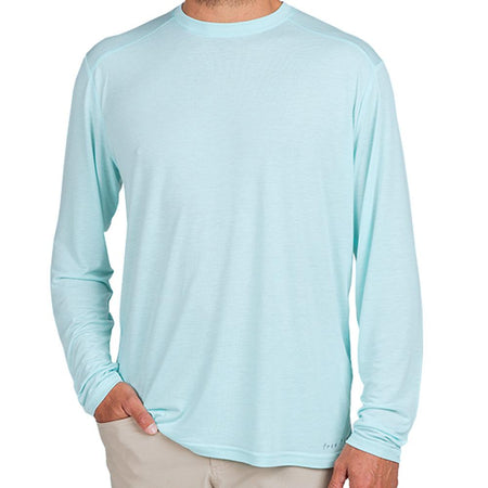 Men's Bamboo Lightweight Long Sleeve Blue Chill