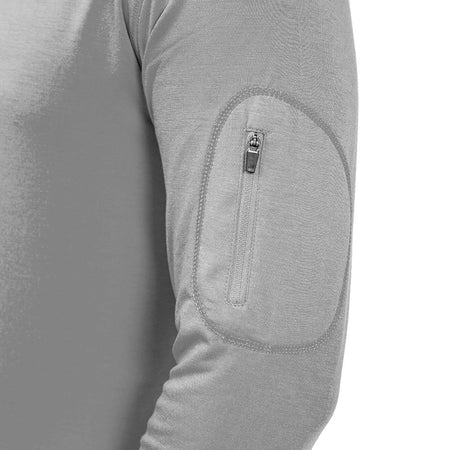 Men's Bamboo Midweight Hoody Heather Grey