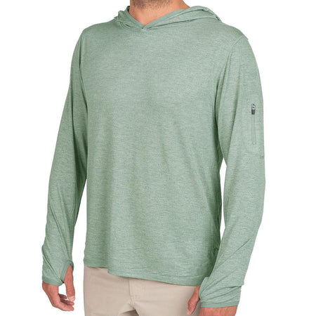 Men's Bamboo Midweight Hoody Heather Marsh