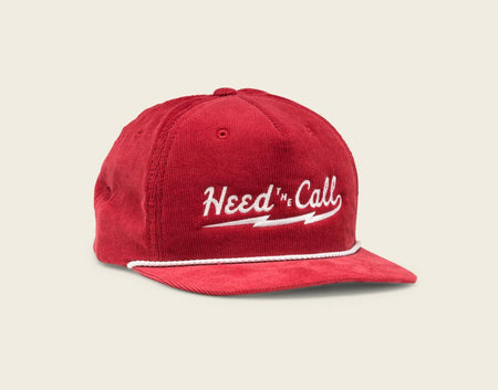 HTC Lightning Snapback - Red Corduroy