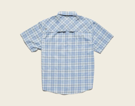 Matagorda Shortsleeve - Shoreline Plaid Tidal Blue