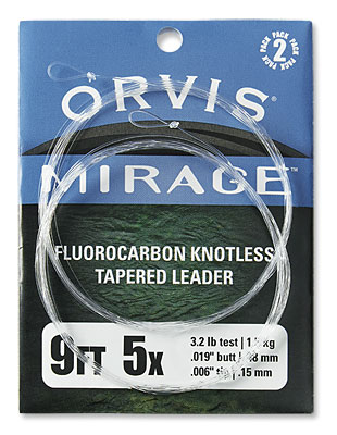 Orvis Mirage Trout Fluorocarbon Leaders 2PK