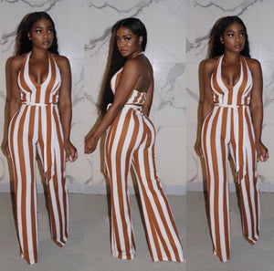 Chocolate Stripes Jumpsuit