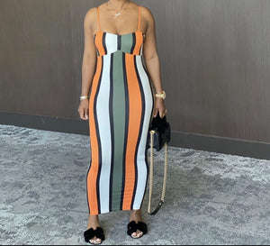 Multi Color Stripes Dress