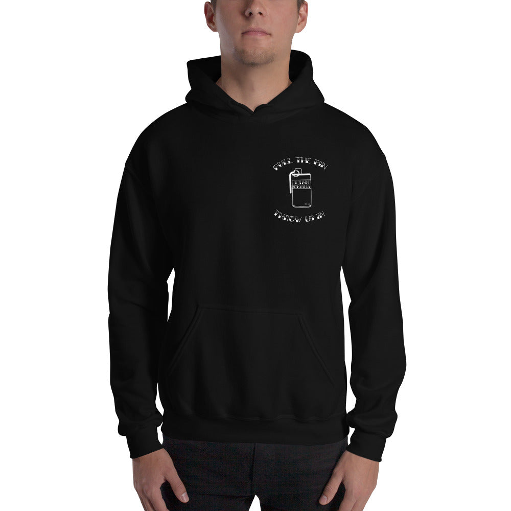 ( Dark Colours ) Pull the Pin Unisex Hoodie