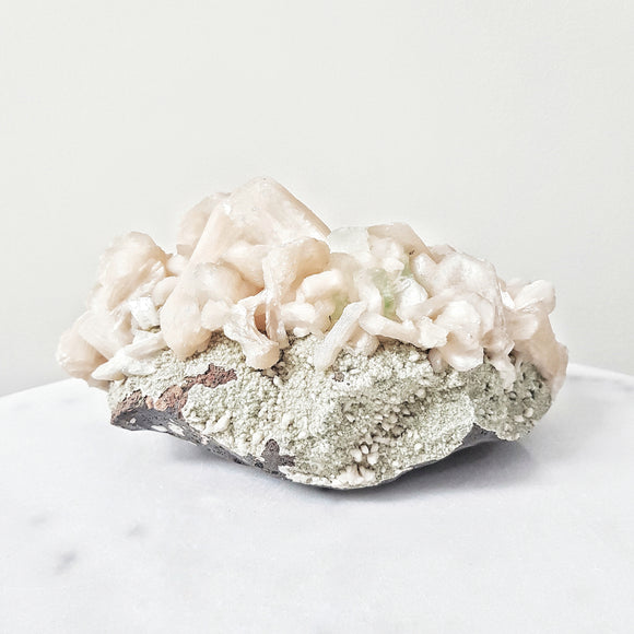 Stilbite with Green Apophyllite