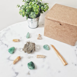 Abundance and Prosperity Crystal Grid Kit