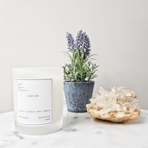 Home decor soy and ivy candle crystals