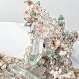Clear Himalayan Quartz Cluster with Hematoid and Green Chlorite