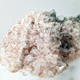 Pink Himalayan Quartz Cluster with Green Chlorite and Hematoid