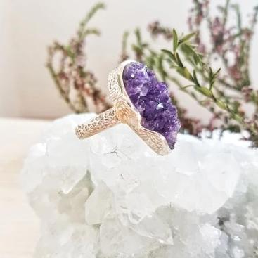 Amethyst Ring Teardrop