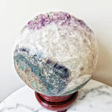 Amethyst Geo Sphere Crystal Large