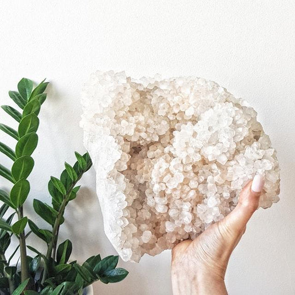 Quartz Cluster with Pink Himalayan Quartz Crystal