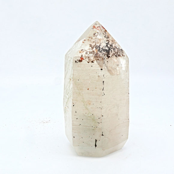 Quartz Polished Point with inclusions