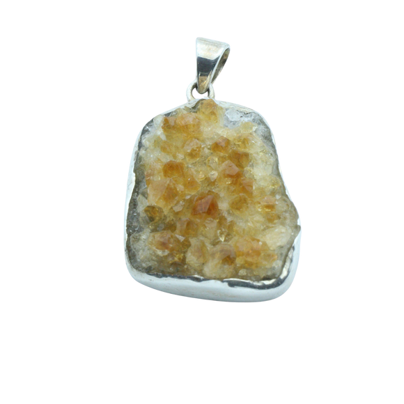 A Natural Citrine Cluster Pendant