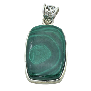 A Rectangular Malachite Pendant