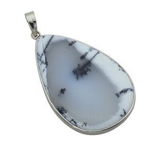 "A Dendritic Agate Teardrop Pendant by ""Made in Earth"""