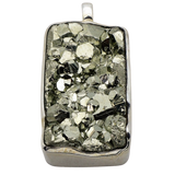 Raw Pyrite Pendant Rectangle