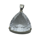 A Clear Quartz Bevelled Triangular Pendant