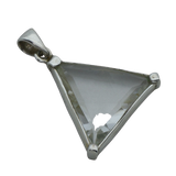 Clear Quartz Triangular Pendant (large)