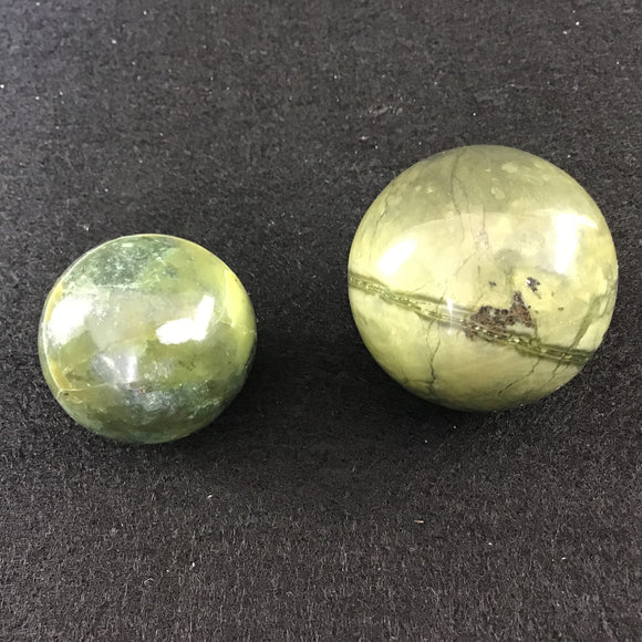 Green Serpentine Spheres Small