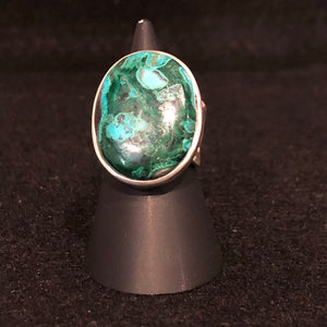 Chrysocolla + Malachite Ring